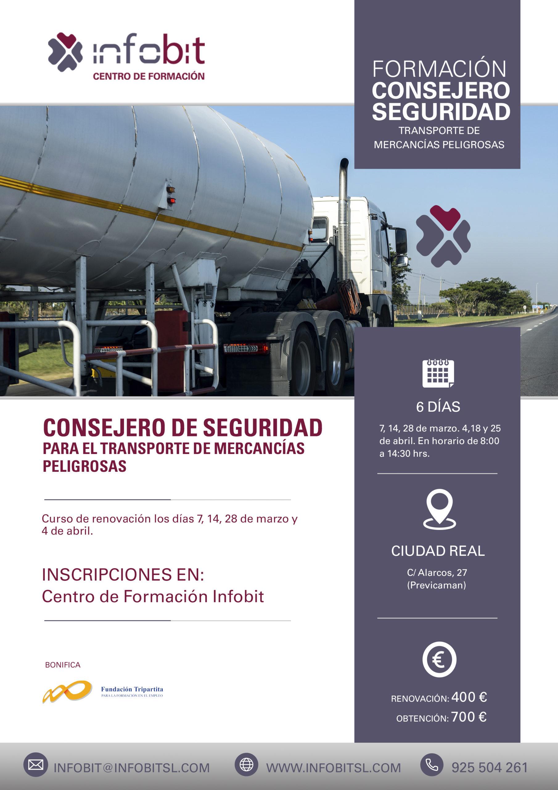 CONSEJERO SEGURIDAD, Transporte De Mercancías Peligrosas