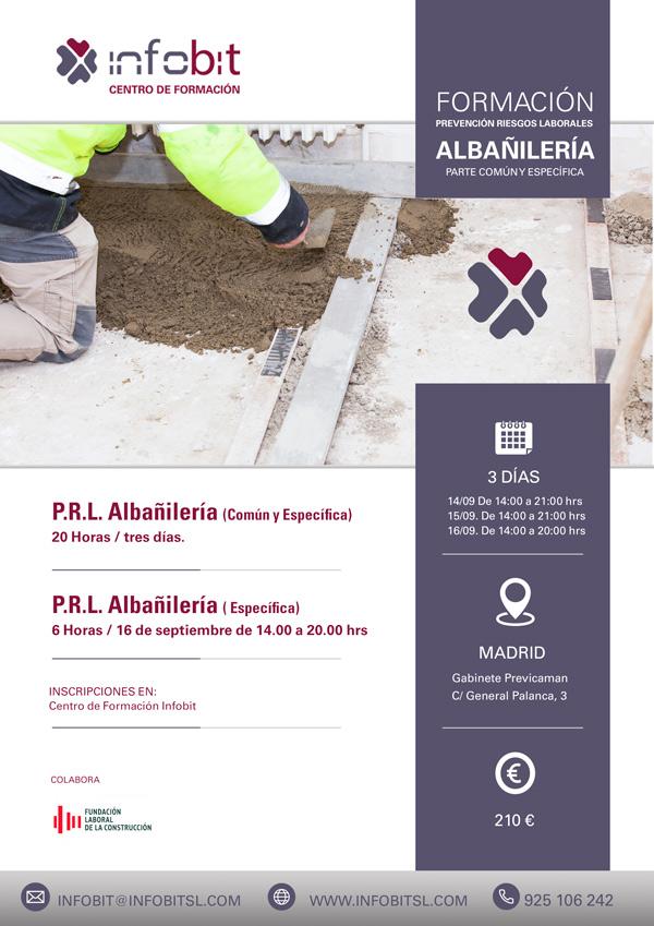Prevención De Riesgos Laborales En Albañilería. 20 Horas