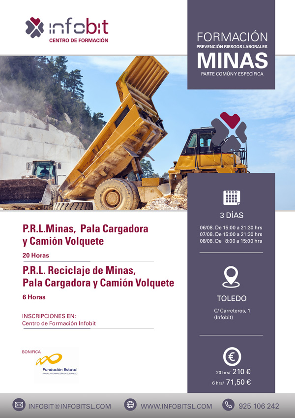 Prevención En Minas, Pala Cargadora Y Camión Volquete. 6 Horas