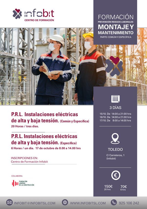 Montaje Y Mantenimiento De Instalaciones Eléctricas De Alta Y Baja Tensión, 6 Horas. Toledo