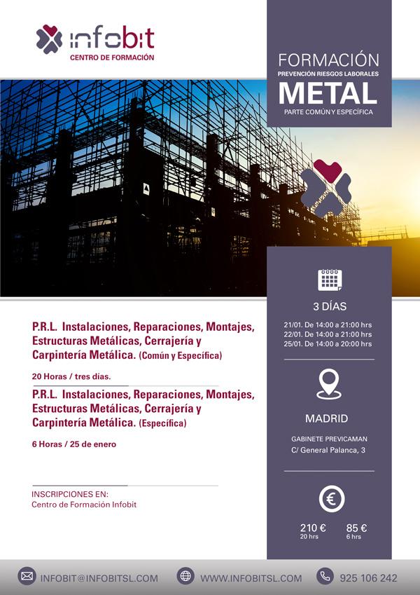 P.R.L. Instalaciones, Reparaciones, Montajes, Estructuras Metálicas, Cerrajería Y Carpintería Metálica. 20 Horas.