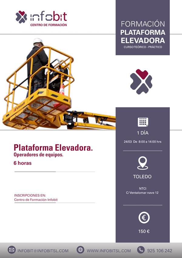 Operador De Equipo De Plataforma Elevadora, 6 Horas.