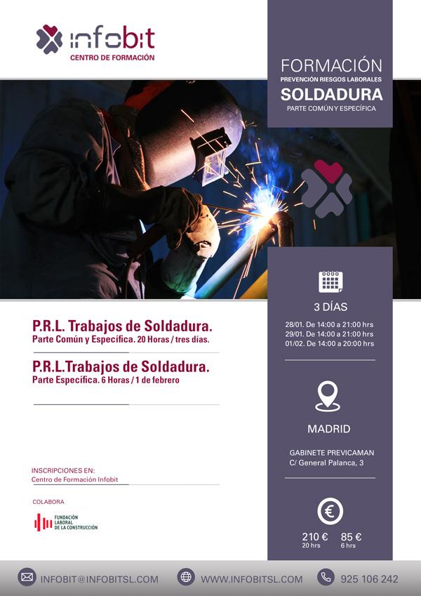 PRL Trabajos De Soldadura. 20 Horas. Madrid
