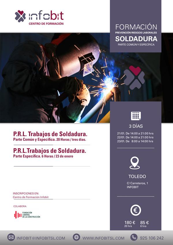 PRL Trabajos De Soldadura. 20 Horas. Toledo